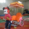 Supply the robot pull a cart, a small bungee jumping, rail train, inflatable robot to pull carts Lea