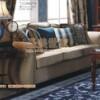 New York Fashion Fabric sofa American furniture solid wood furniture, American-style three-bit