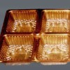 Wafer packaging trays and tasteless green biodegradable plastic disposable