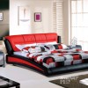 upholstery modern leather bed, stylis soft bed