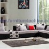 Upholstery Modern L Sharp Fabric Leisure sofa