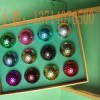 Multi-color gold-plated golf ball golf
