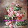 flower oil painting, handmade oil painting