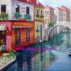 oil painting, Venice Building oil painting