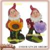 Polyresin gnomes bird feeder