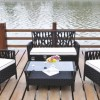 garden wicker rattan furniture sofa coffee table set 025a