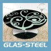 New Home Furniture , Round Modern Paint Glass Coffee Table