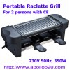 Portable Raclette Grill for 2 persons