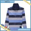 Mens striped long sleeve polo shirt