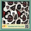 Funiture Print PU Synthetic Leather Fabric 0.8mm Flocking Design