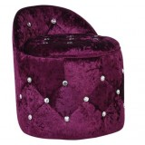 Round Fabric Crystal Ottoman S