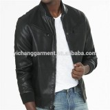 Men''s Blk Lamb Bomber Leather