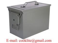 Caja de municiones metálica / Caja militar de municiones