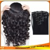 Indian Peruvian Virginhuman hair clip-in hair extensions