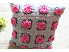 Wholesale Beautiful Handmade Flower Shape Crochet Pillow