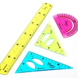 Clear Flexible Ruler Set