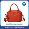Wholesale ladies bag unique design fabric bag popular nice color matching ladies shoulder bag