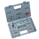 40 Pcs SAE Tap And Die Set,All