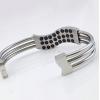 BN-002 lowest price titanium steel custom bangle male bangle men's bangle for health