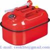 Dieselkanne i stål 20 liter rød bensinkanne jerrykanne med flekstut