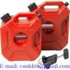 Kunststoff Benzinkanister Dieselkanister Reservekanister Kanister 5L mit Ausgießer