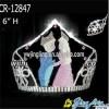 Romatic Couple Wedding Tiara Crowns For Beauty Princess Love