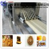 stainless steel fully automatic flat type biscuit production line