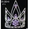 Purple Rhinestone Beauty Queen Crown For Wholesale