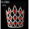 Wholesale Rhinestone Pageant Crowns Red Color