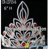 Red rhinestone wholesale cheap pageant crowns tiaras