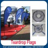 Knitted Fabric Custom Teardrop Flag Banner with Digital Printing