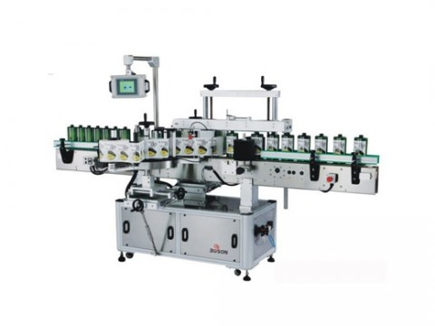 Automatic Two Side Labeling Machine For Flat Square Bottle Jar
