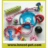 Factory-Direct Multi-Colors Pet Products Supply Plush Cotton-Rope Ball Dumbbell Dog Toy