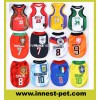 Pet Products Suppy Sports Polyester Tshirt Football-Soccer Team Dog Clothes