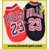 basketball team dog apparel cotton pet tshirt