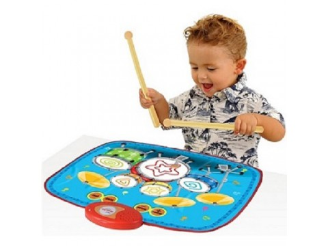 Electronic Drum Kit Playmat with Drum Stick