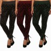 Ladies Flocking Pant, Flocking Denim Trouser, Flocking Jean