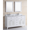 Solid Wood Tempered Glass Basin Bathroom Vanity
