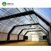 Automated galvanized steel frame polytunnel internal blackout greenhouse