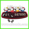 Silicone car temporary stop phone number boards car accessories promotional gifts