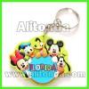 High quality promotional pvc 2d 3d cartoon figure animal key chains custom manufacturer