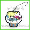 Cartoon animal anime figure food fruit car shape mobile phone pendants custom for promotion