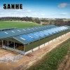 Q235 Q345 Grade steel structure frame poultry farm  cattle / cow shelter