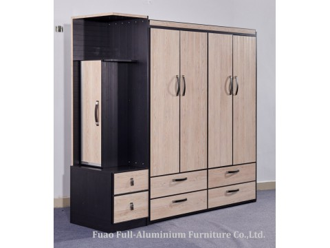 Full Aluminum Bedroom Furniture Combined Wardrobe