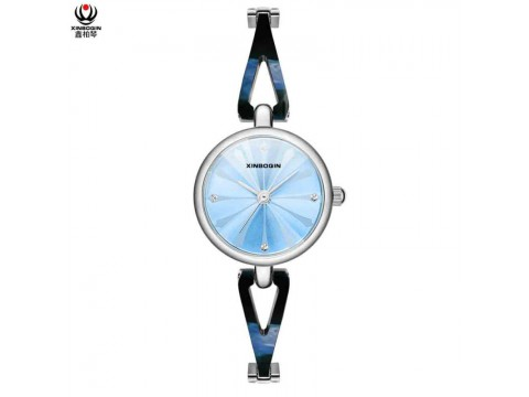 XINBOQIN Dropshipping Custom Brand Luxery Fashion Colors Quartz Waterproof Acetate Ladies Watch