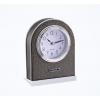 PU Leather Hotel Guest Room Alarm Desk Clock